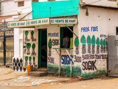 Boutique de vente de khat à Djibouti